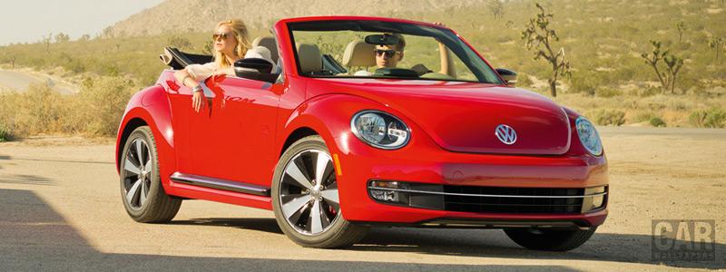 Обои автомобили Volkswagen Beetle Convertible - 2012 - Car wallpapers