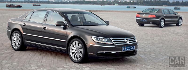 Обои автомобили Volkswagen Phaeton V8 long wheelbase - 2010 - Car wallpapers
