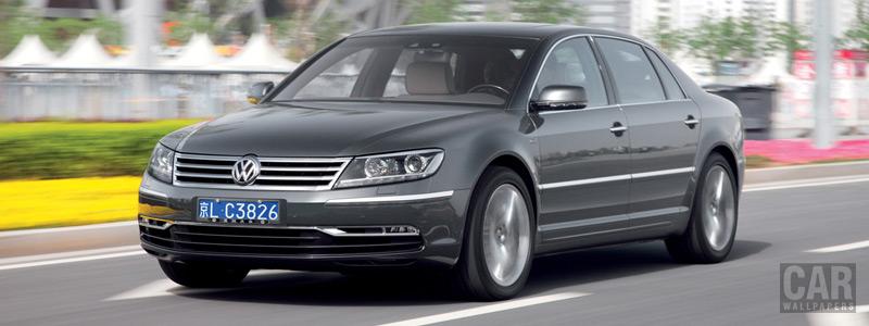 Обои автомобили Volkswagen Phaeton W12 long wheelbase - 2010 - Car wallpapers
